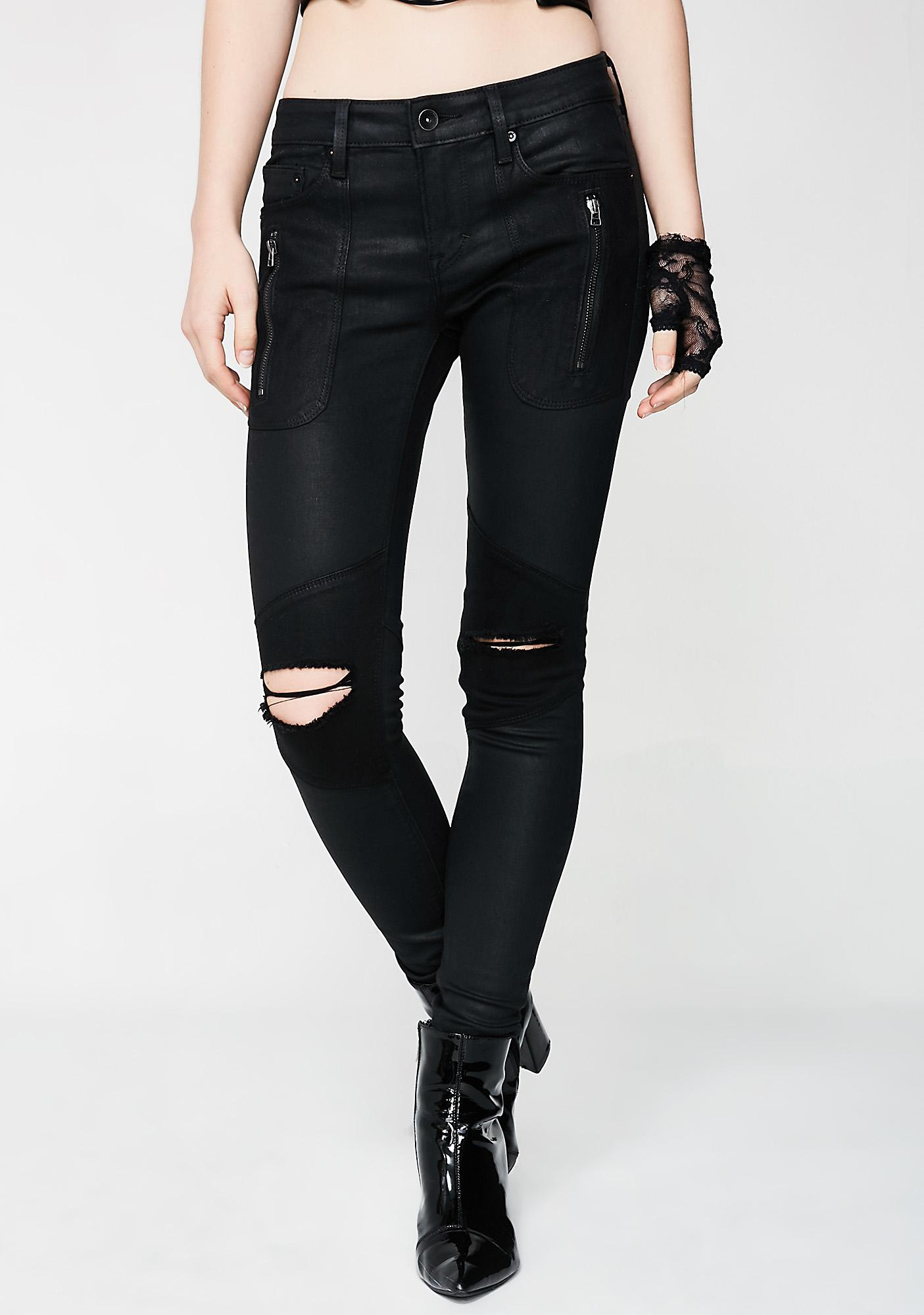 Cult of Individuality Moto Midrise Jeans