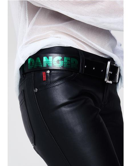 Proceed With Fear Reversible Belt