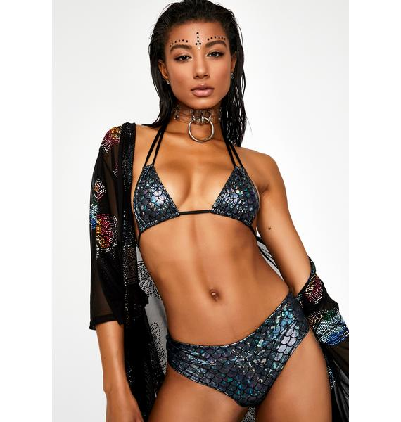 Sugarpuss Dark Waters Low Rise Bikini Bottoms