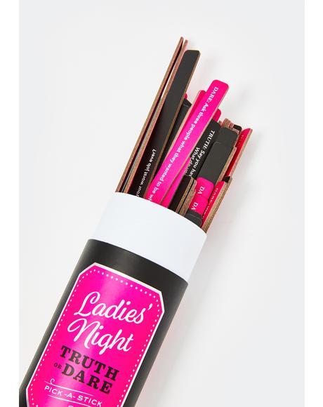 Pick-A-Stick Ladies' Night Truth Or Dare Set
