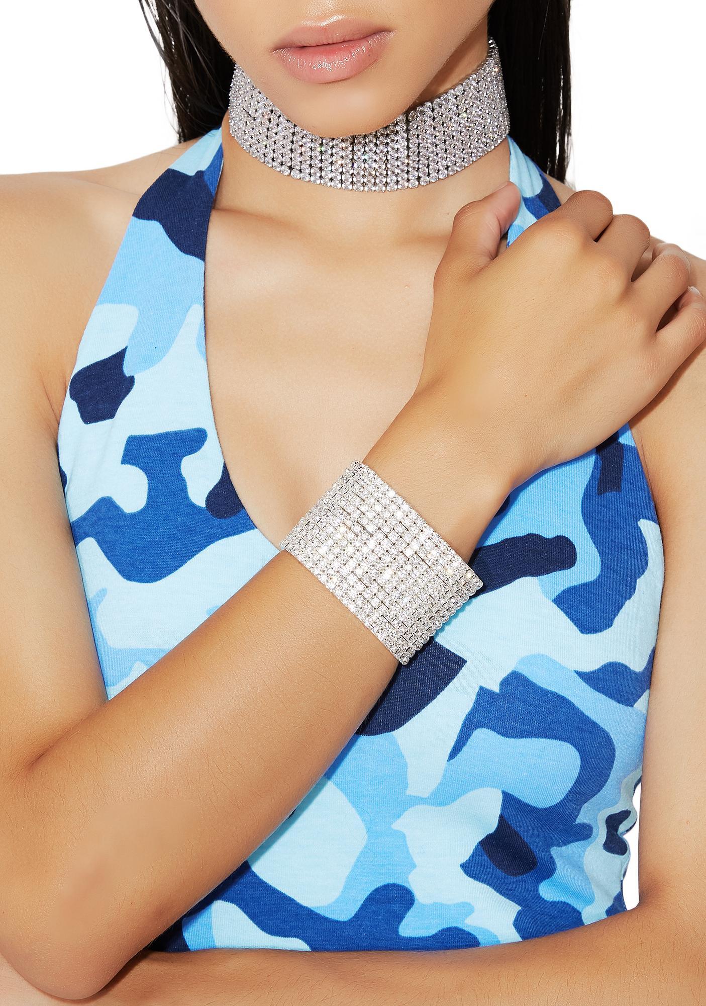 Cold As Ice Rhinestone Bracelet