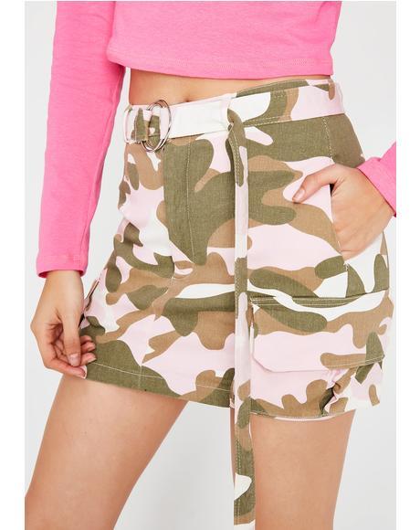 Come See Me Camo Skirt