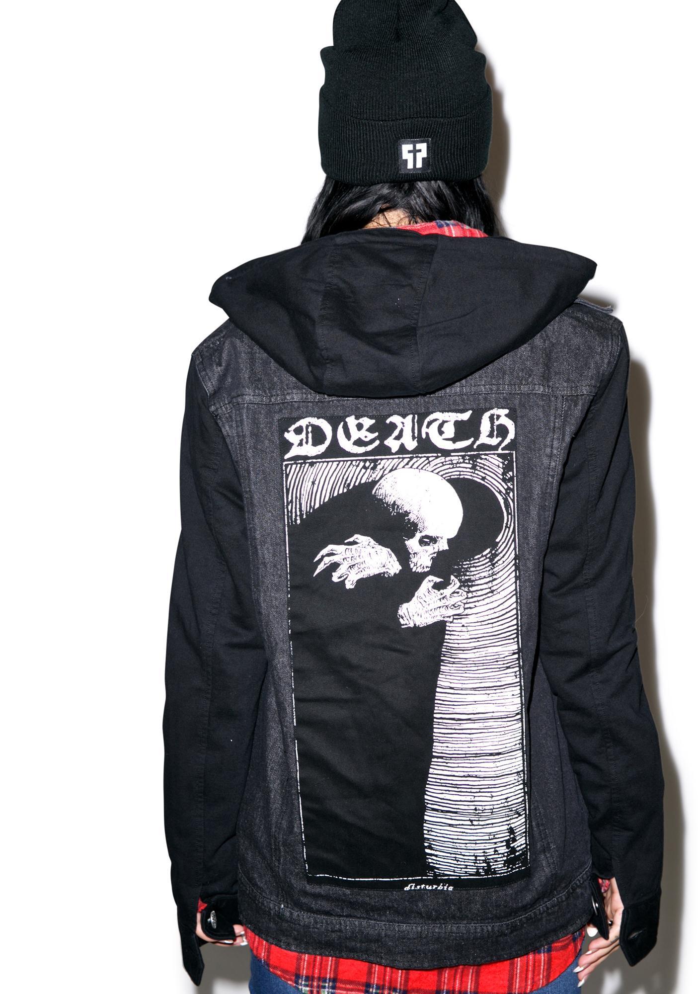 Disturbia Death Denim Hoody
