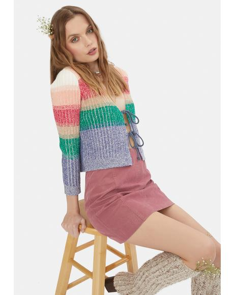 Vegan Suede Modern Femme Mini Skirt