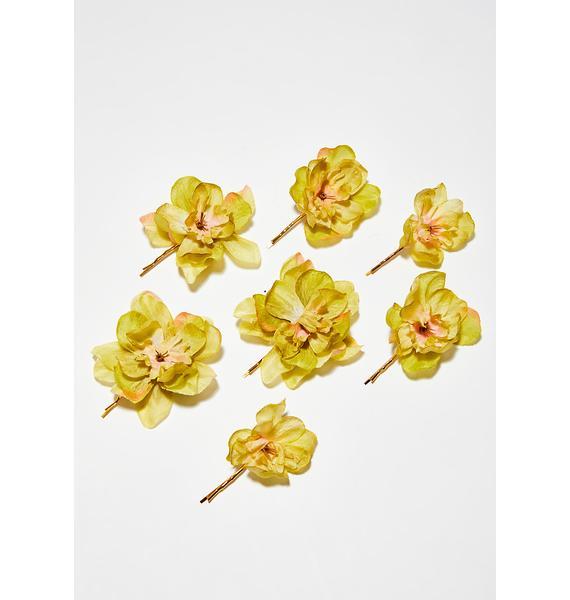 Rock n Rose Sunny Franny Flower Hair Pins