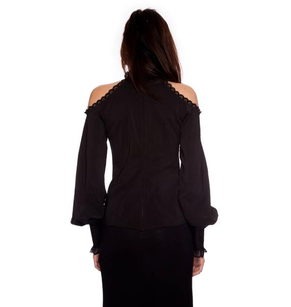 Lip Service Step In Time Open Shoulder Top