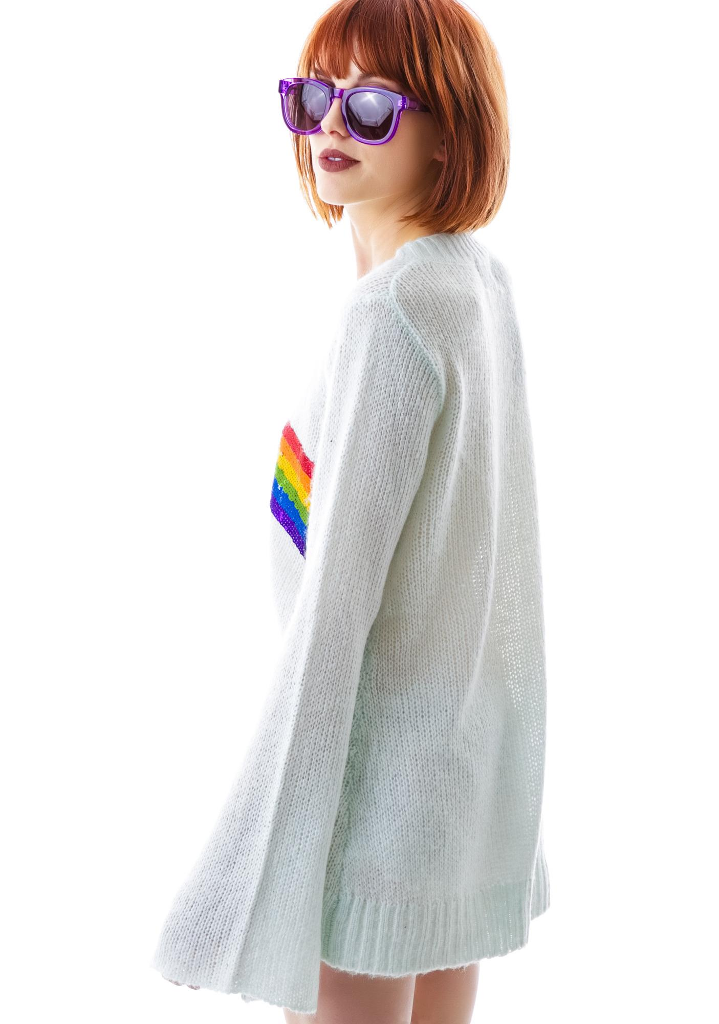 Wildfox Couture Antique Rainbow Favorite Sweater