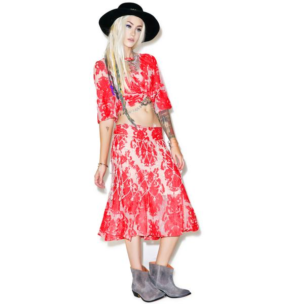Mink Pink Crime of Passion Lace Skirt