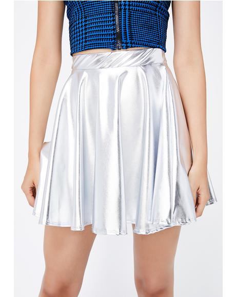 Space Rain Dance Skater Skirt