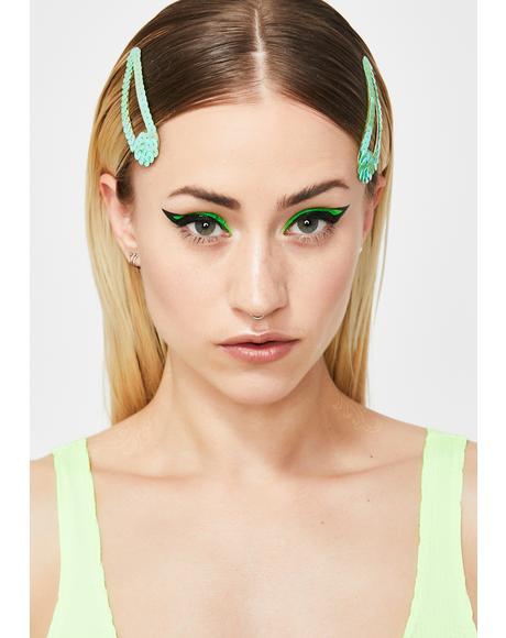 Slime Sparkle Tease Sequin Hair Clips