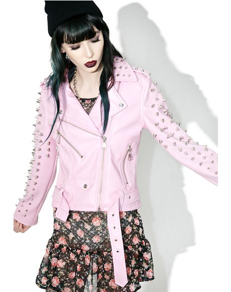Dahlia Studded Biker Jacket