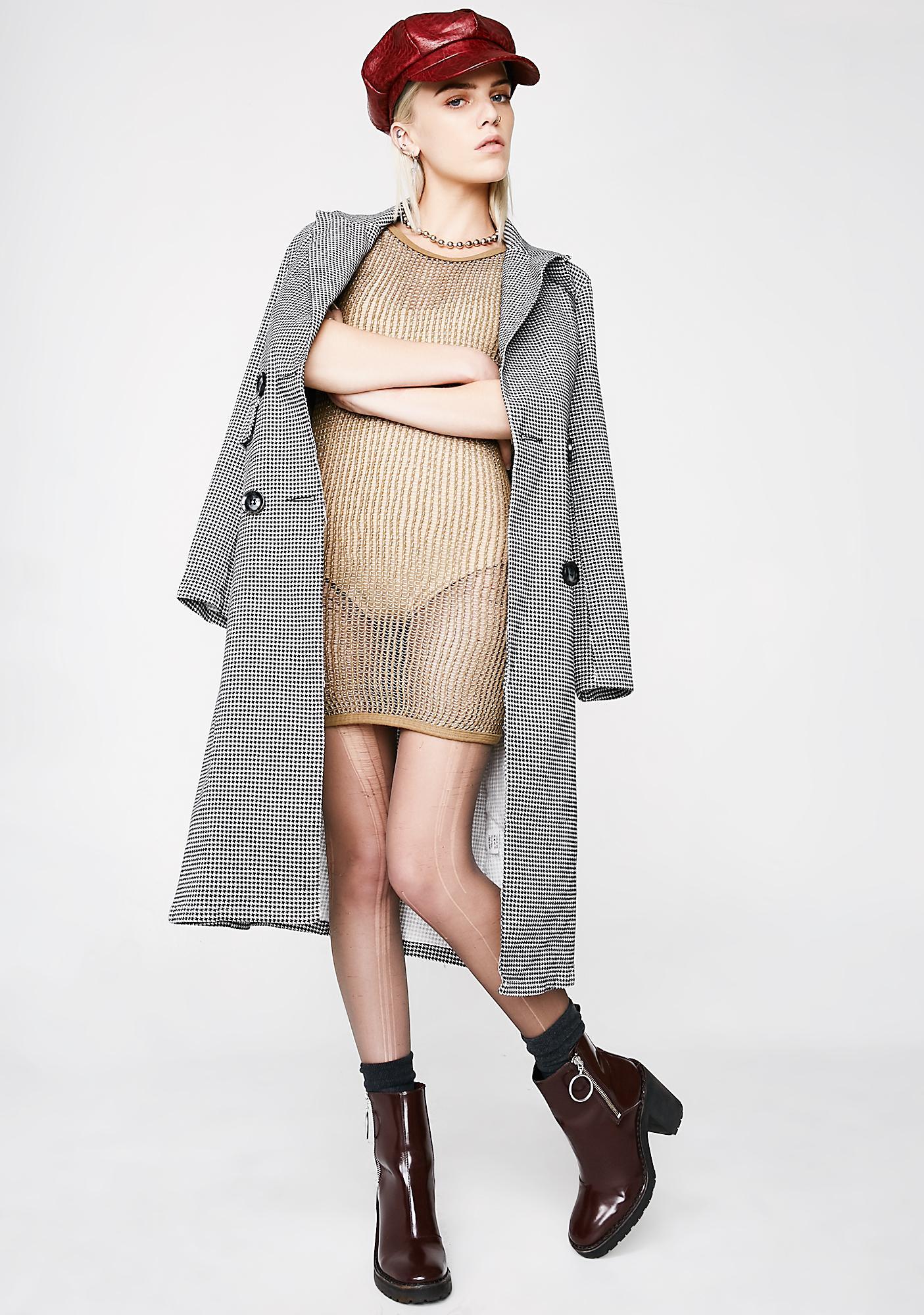 Vintage Olive Knit Dress