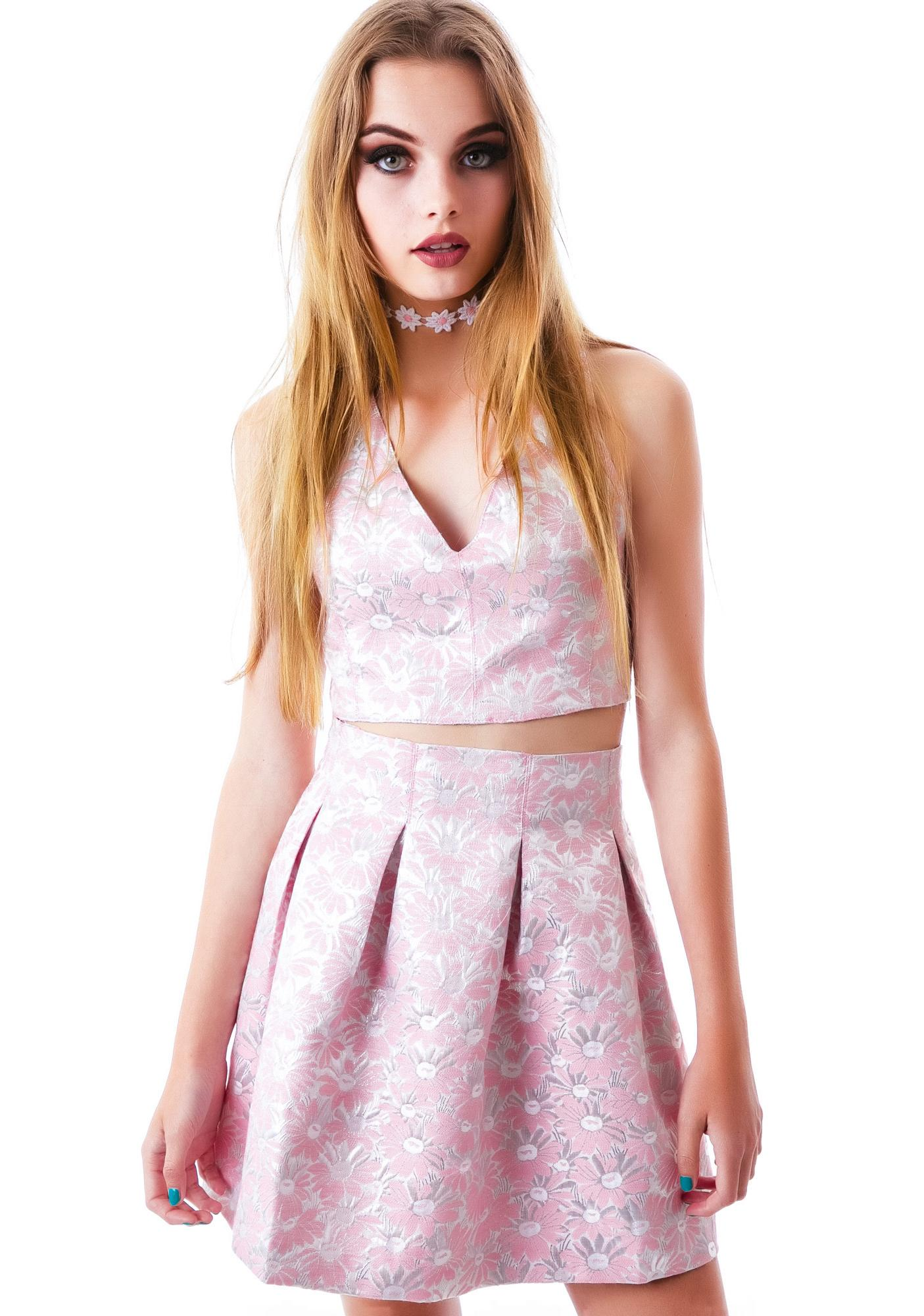 Darling Daisy Shiny Skirt
