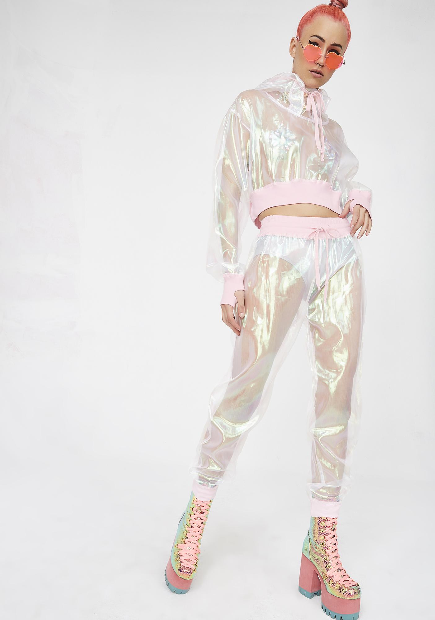 Club Exx Illuminary Fairy Sheer Joggers