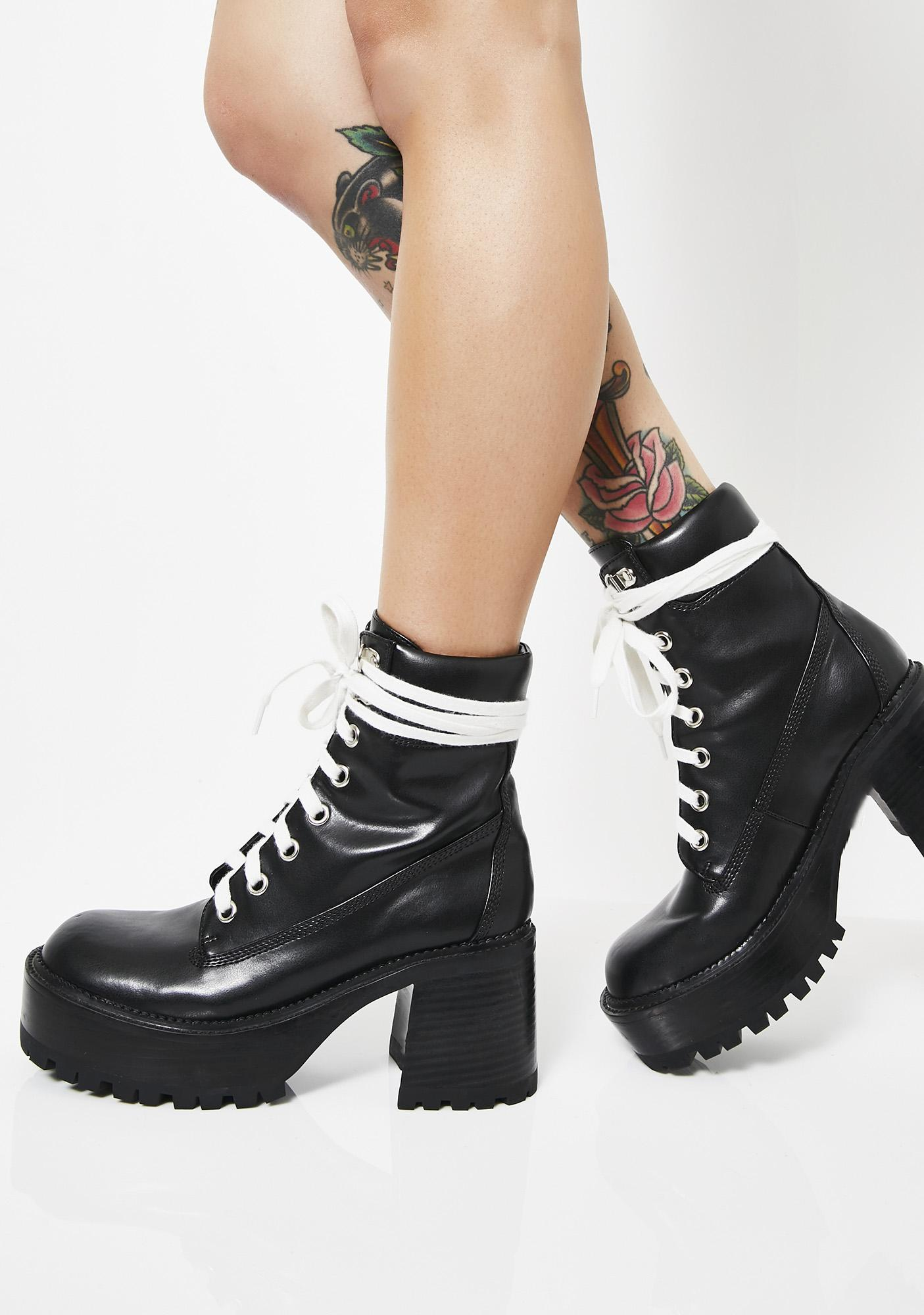 Take A Hike Chunky Boots by Current Mood