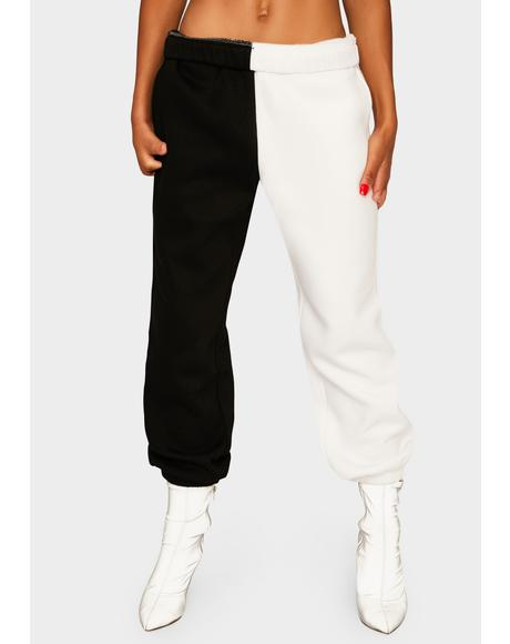 Domino Slacker Squad Two Tone Sweatpants