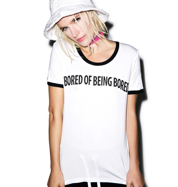 Local Heroes Bored Of Being Bored Ringer Tee