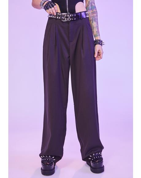 No Joke Wide Leg Dress Pants
