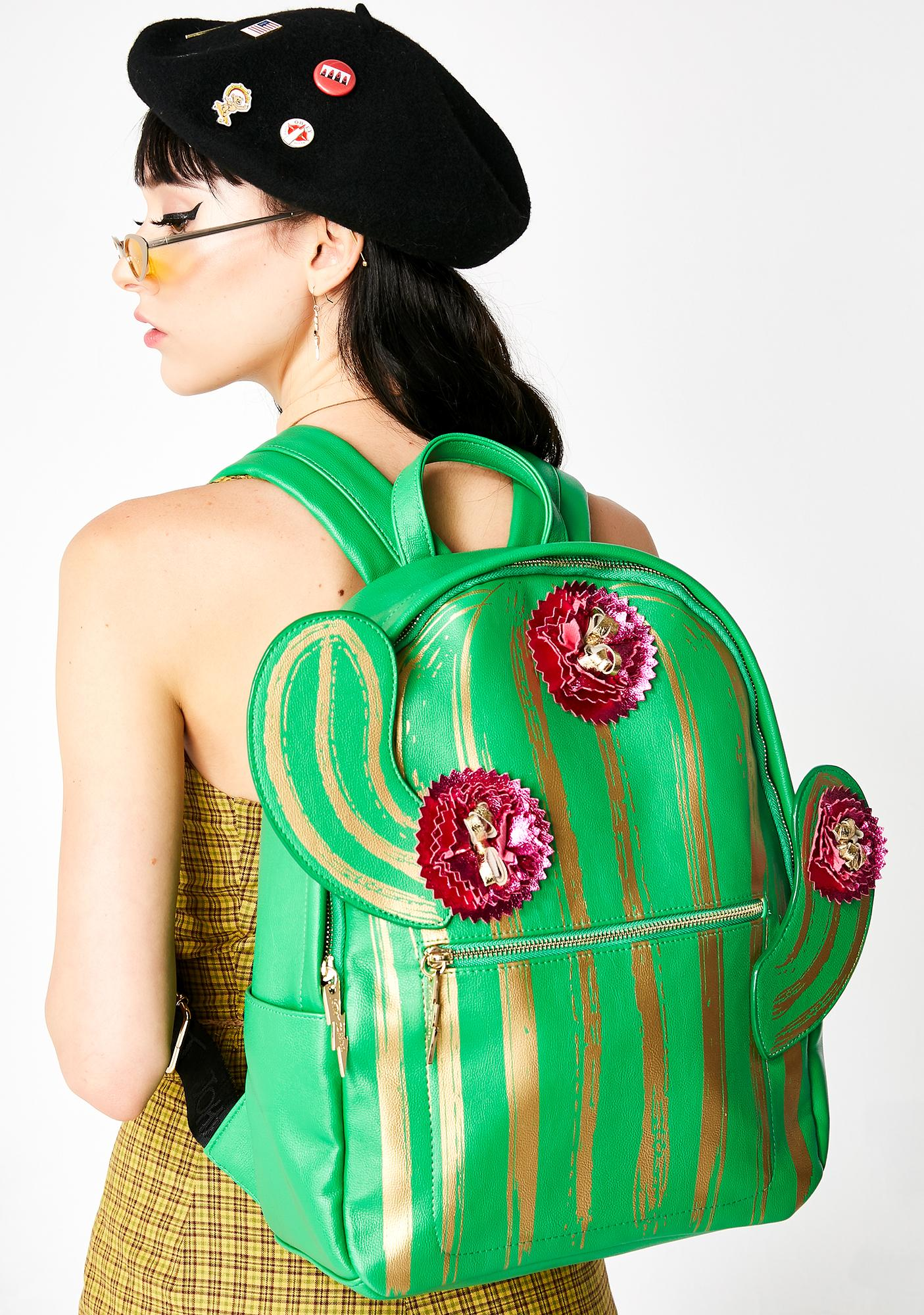 Betsey Johnson Kitsch Lookin Sharp Cactus Backpack