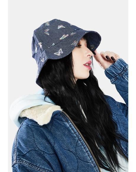 Deep High Above Denim Bucket Hat