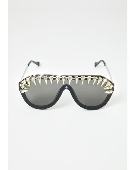 Fine Points Aviator Sunglasses