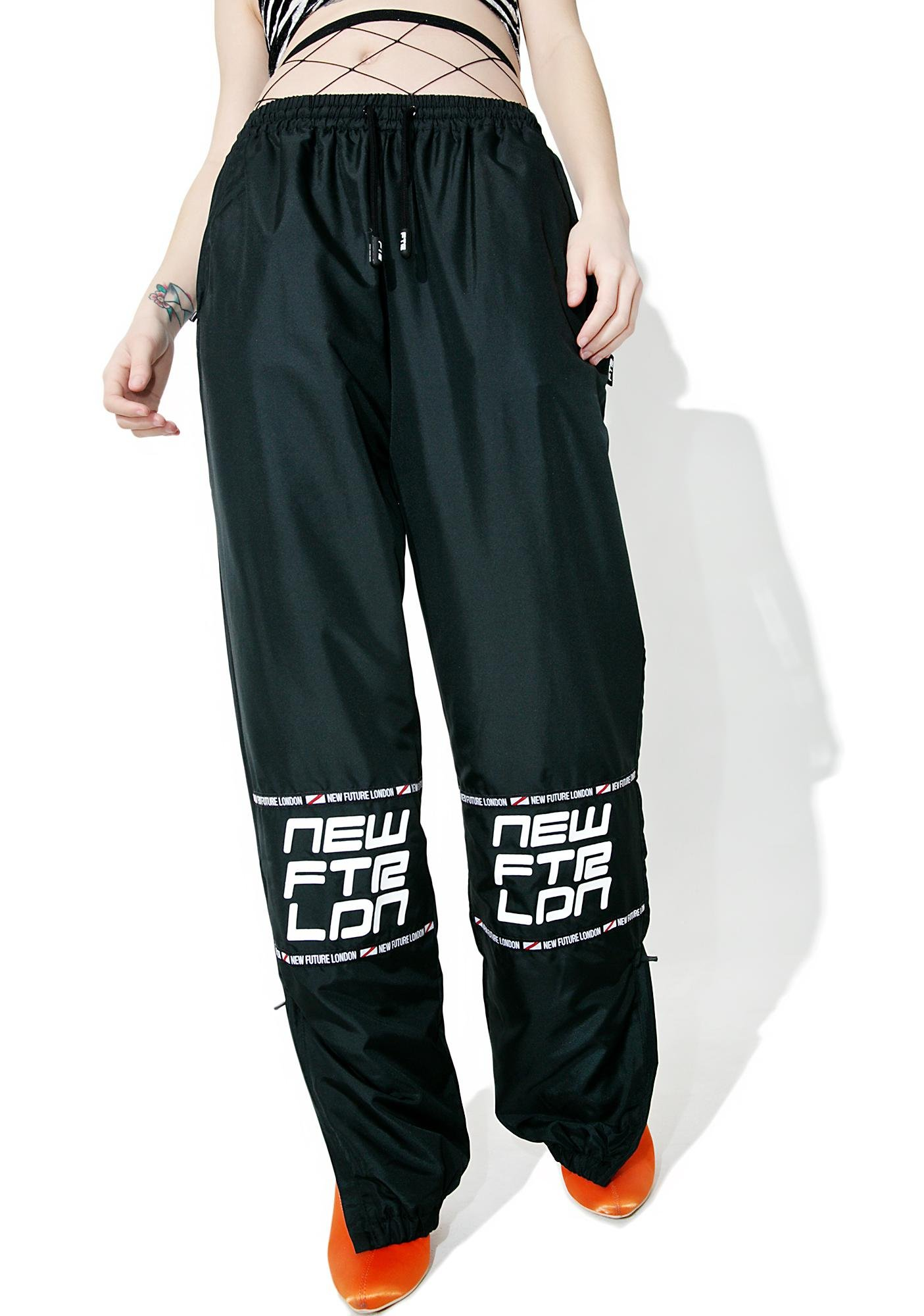 NEW FTR LDN Racer Logo Sweat Pants