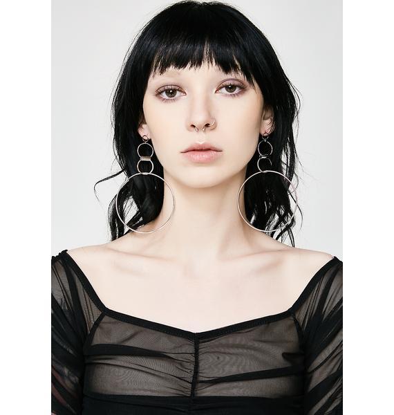 Free Spirit Circle Earrings