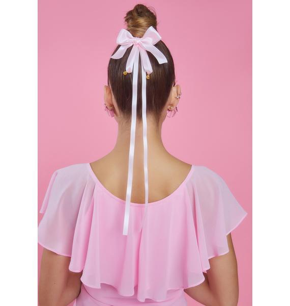 Kiss Take A Bow 2 Piece Satin Hair Clip Set