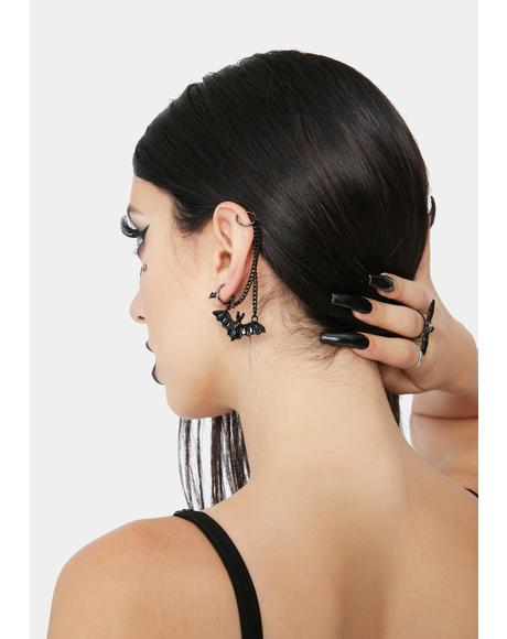 Wings Of Night Ear Cuff