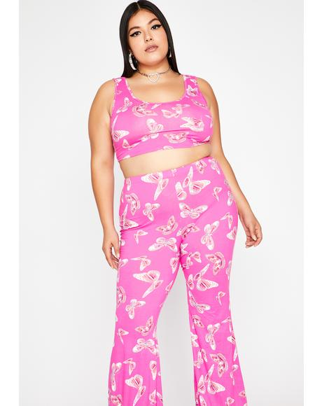 Miss Sugar High Butterfly Pant Set
