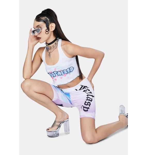 Jaded London Unbothered Cloud Print Halter Neck Top