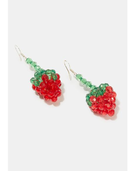 Real Delicious Strawberry Earrings