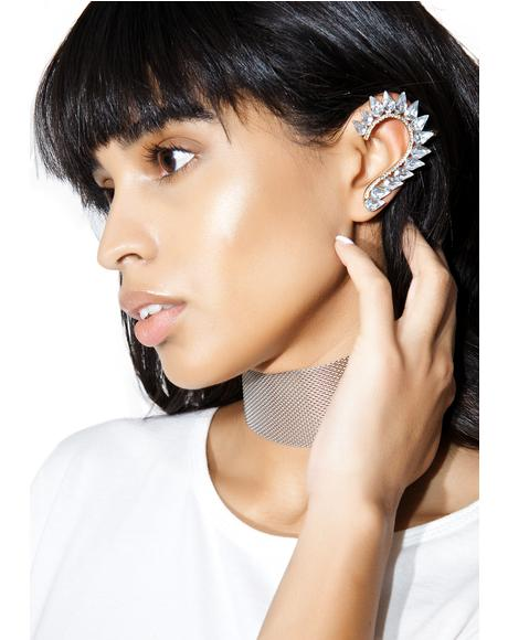 Curvature Crystal Ear Cuff