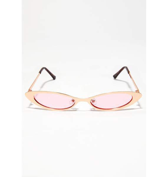 On Wedz We Wear Pink Sunglasses