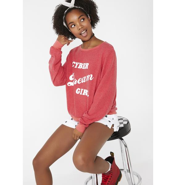 Wildfox Couture Cyber Dream Girl Baggy Beach Jumper