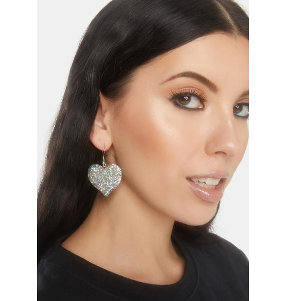 Chrome Take A Shine Drop Earrings