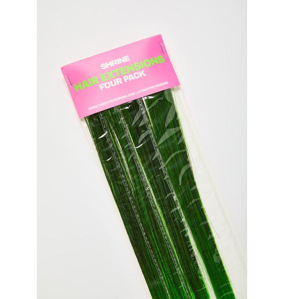 SHRINE Green Ombre Hair Extensions