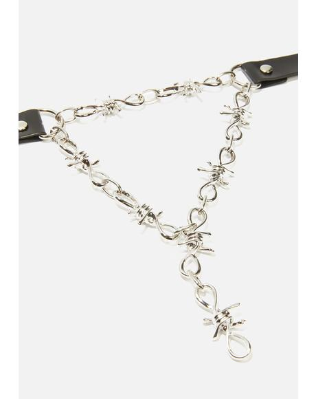 Ain't Perfect Barbed Wire Drop Choker