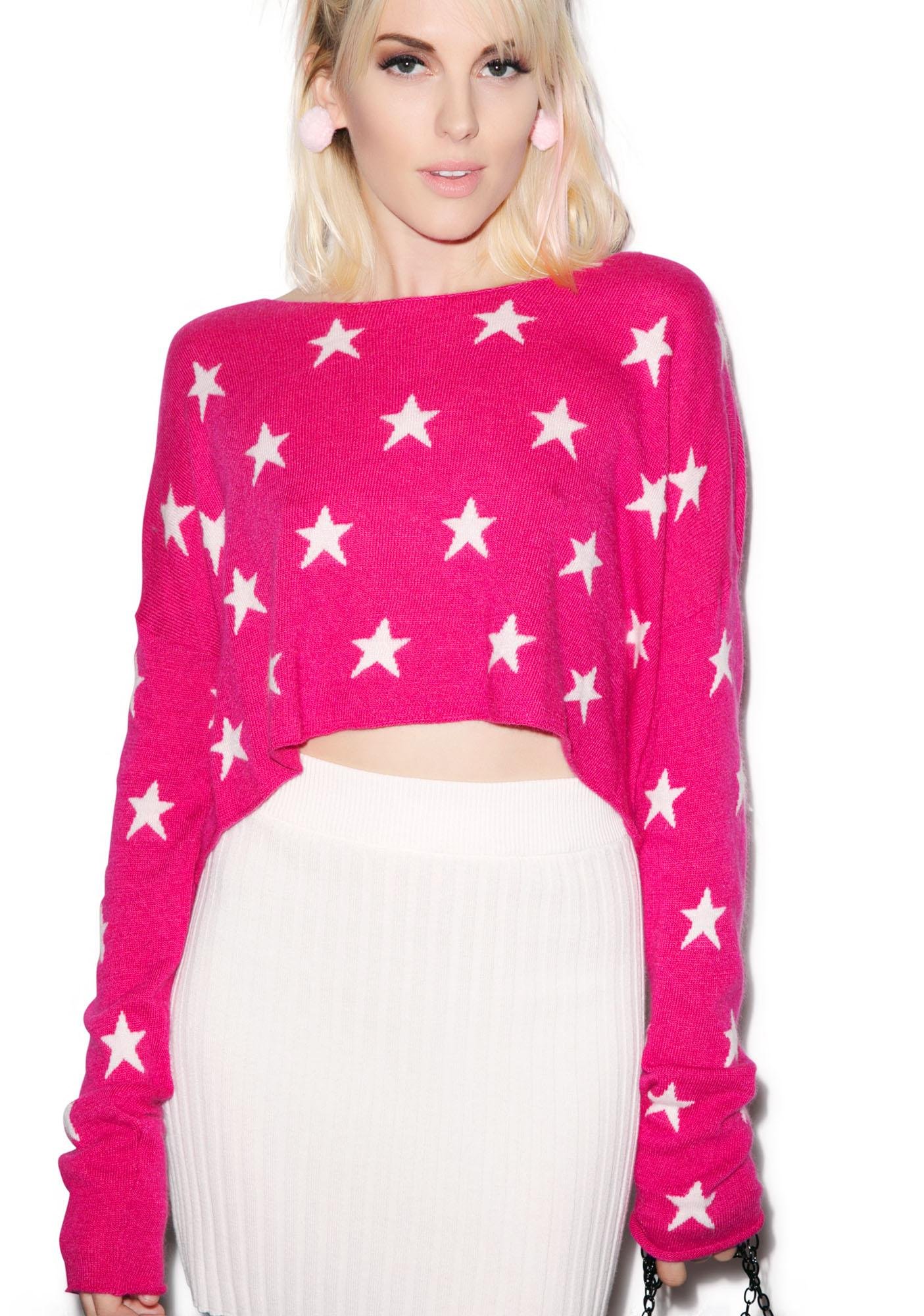 Wildfox Couture Starlight Cropped Billy Sweater