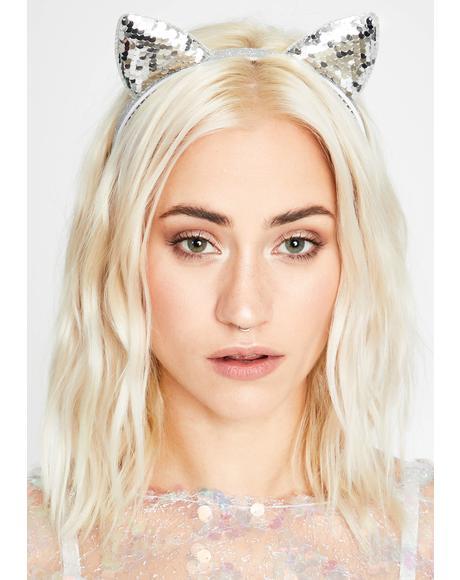 Catnip Cutie Sequin Headband