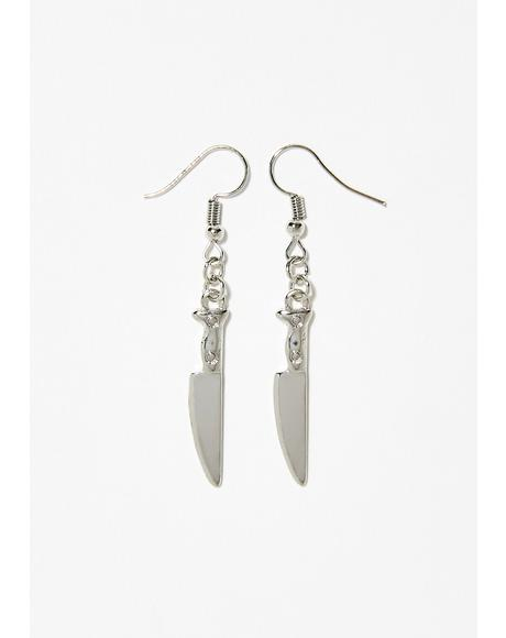 Sinful Slash Knife Earrings
