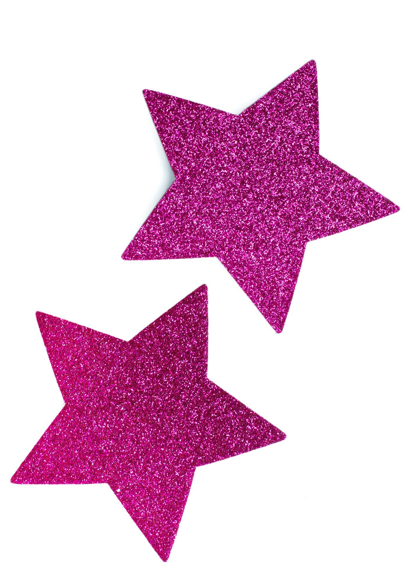Pastease Hot Pink Glitter Star Pasties