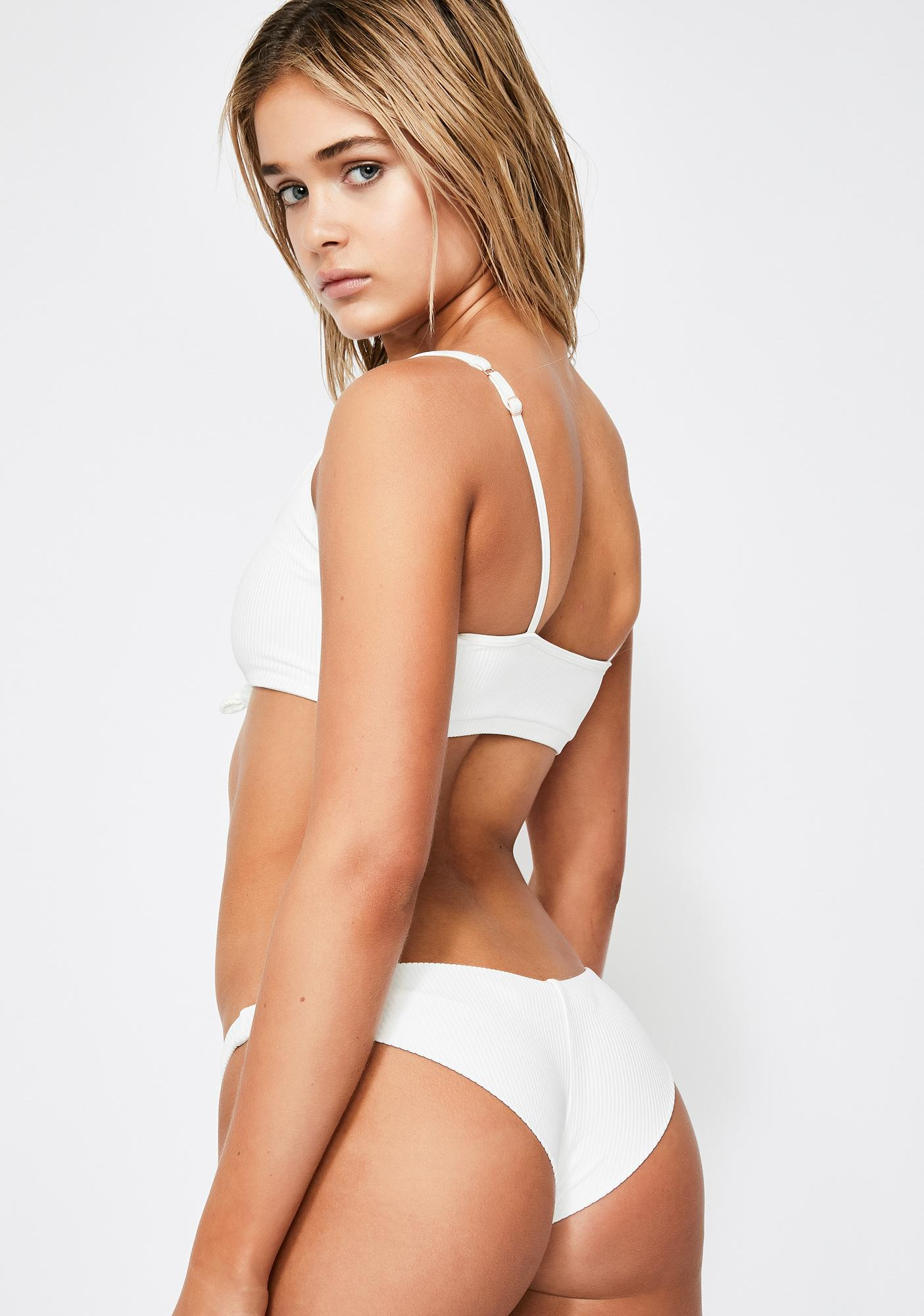 Frankies Bikinis Blanc Greer Bikini Bottoms