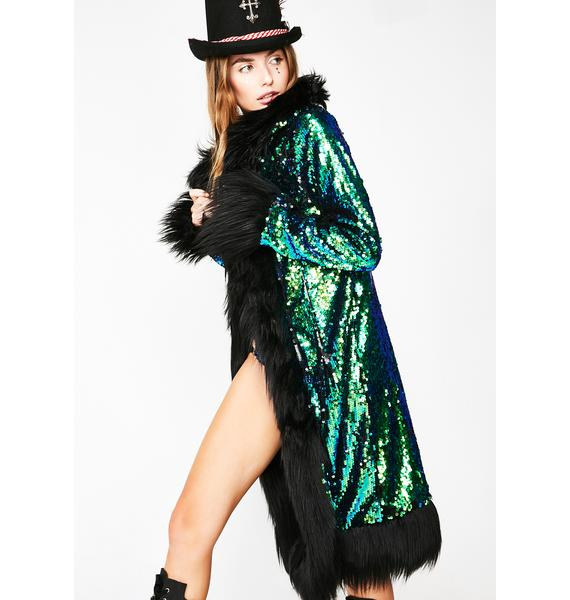 Club Exx Merbae Mysticism Sequin Coat