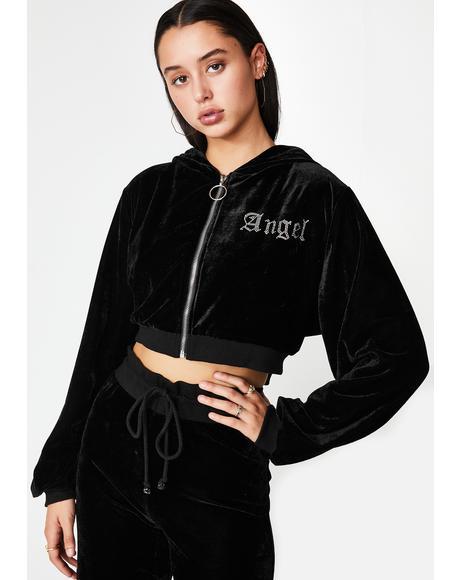 Angel Diamante Velour Jacket