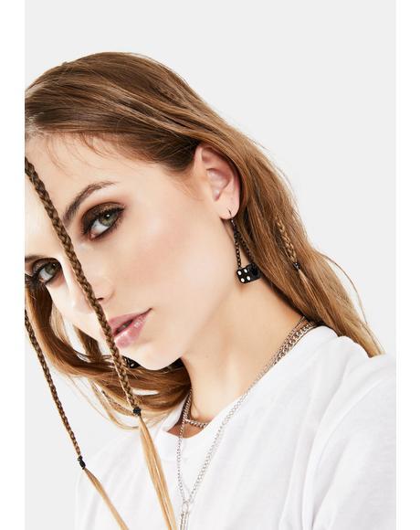 No Luck Dice Earrings