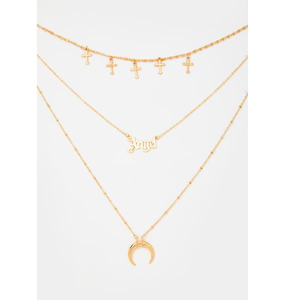 Locked Outta Heaven Layered Necklace