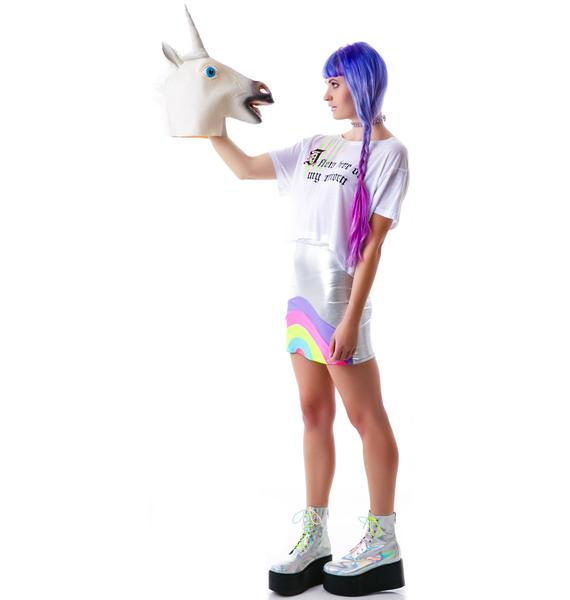 Obscure Couture Unicorn Loose Crop Tee