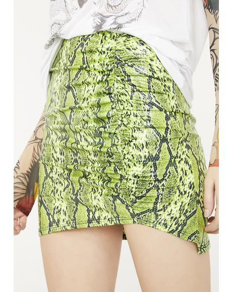Radioactive Bite Mini Skirt