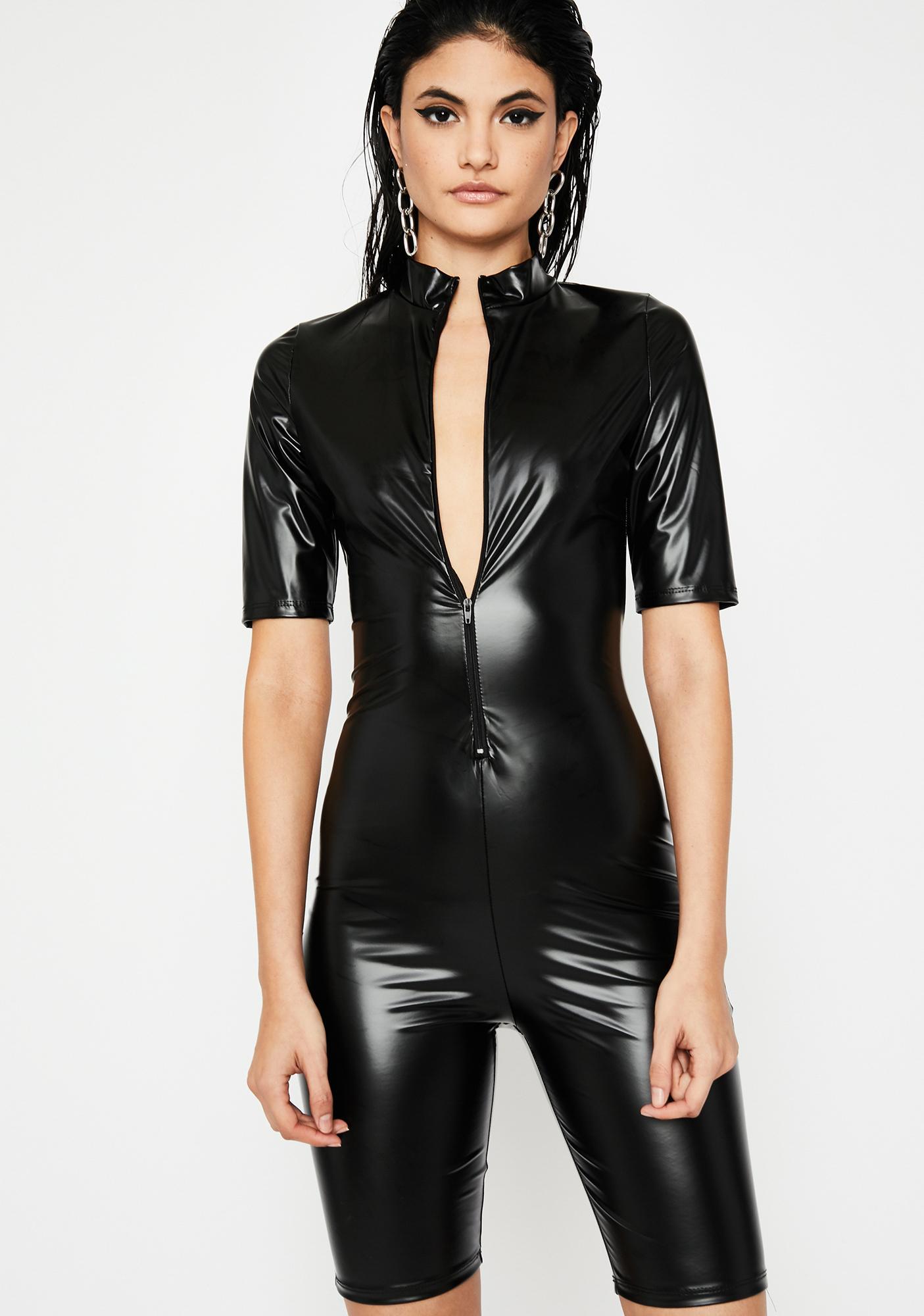 Fashion Obsession Coated Romper